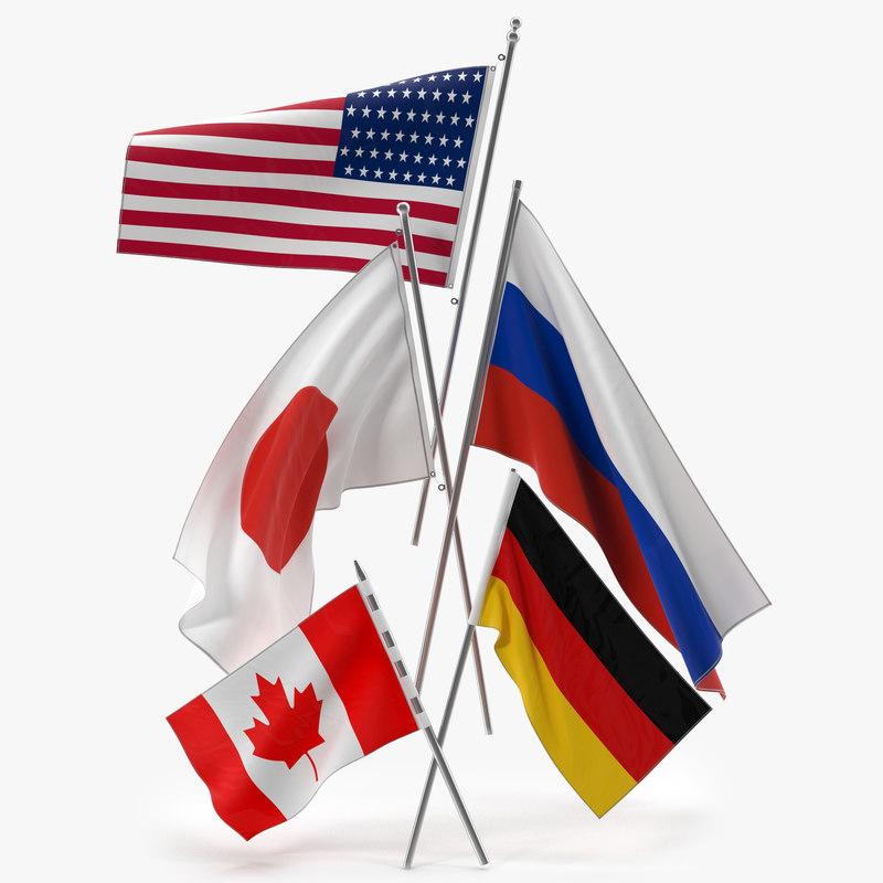 3d flags set canadian