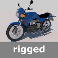 3d fbx motorcycle 1985 rig