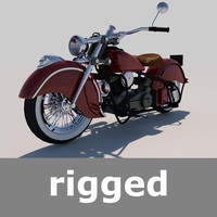 Rigged Indian Chief 1948 Motorcycle