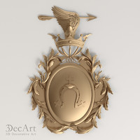 3d family coat arms model