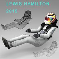 lewis hamilton 2015 3d model