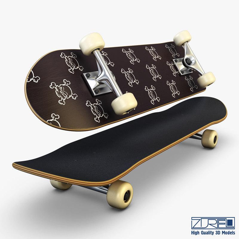 3ds max skateboard v 4