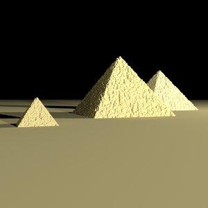 3d egyptian pryamids