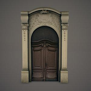 ornate door 3d model