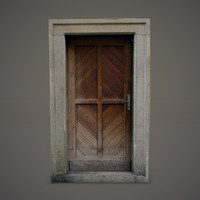 3ds max old wooden door
