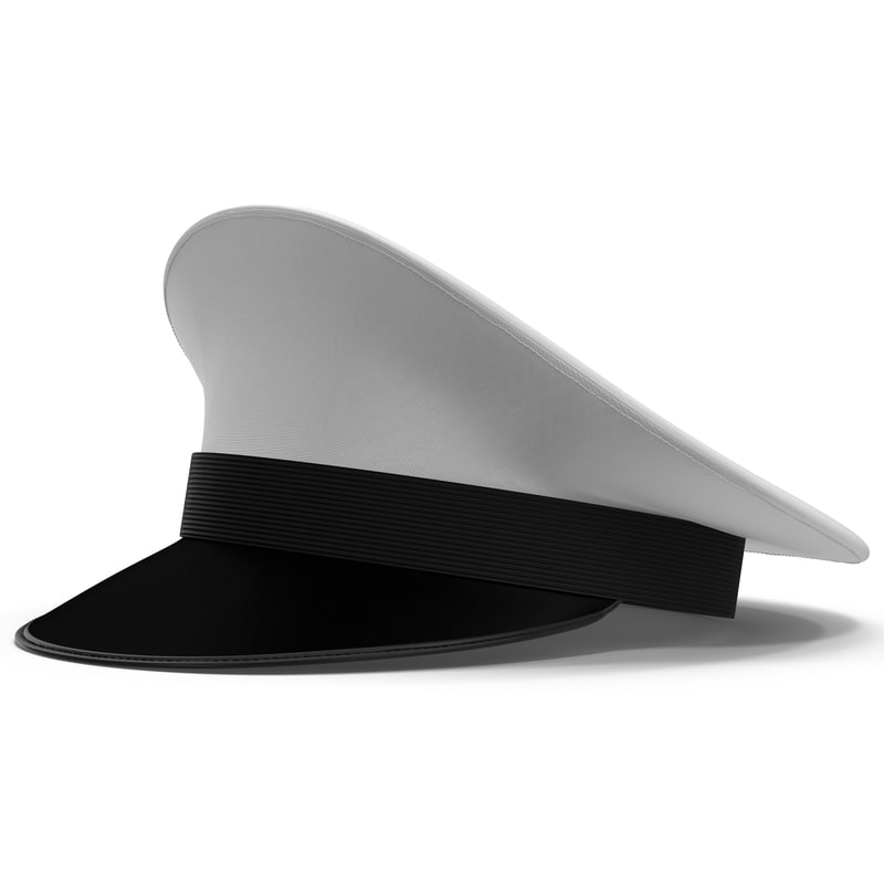 navy hat 3d model