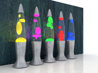 lights lava lamps 3d model