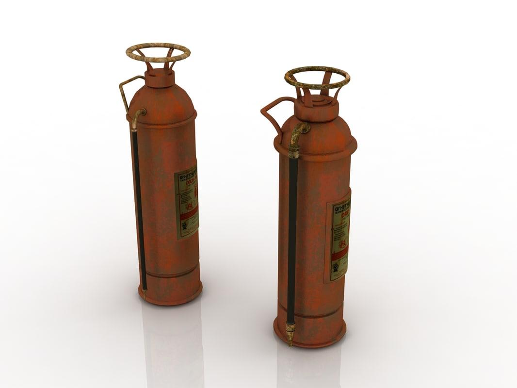 vintage extinguisher 3d 3ds
