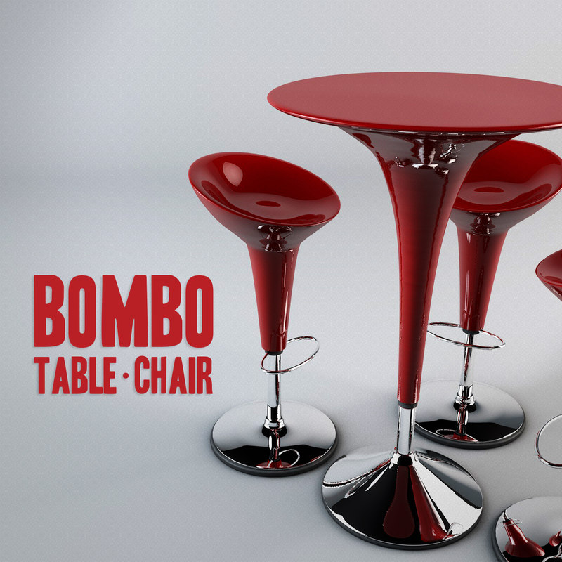 bombo table chair 3d 3ds