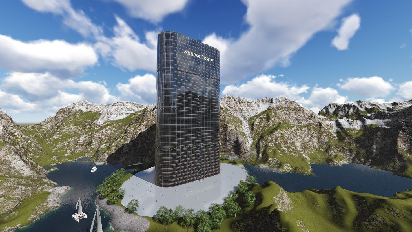 rousse tower 3d model