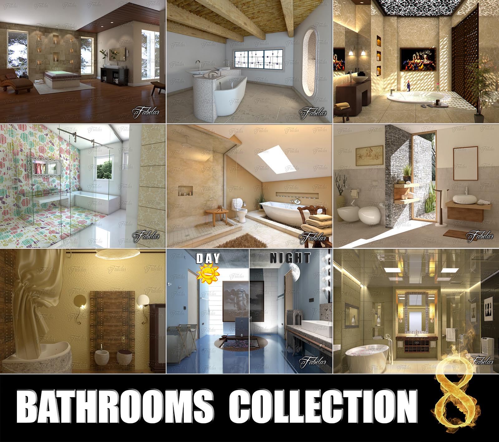 bathrooms scenes 3d model