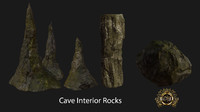 3d model of realistic rock