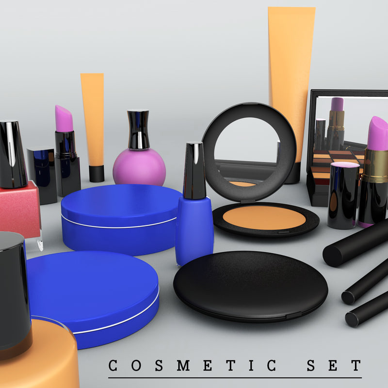 cosmetic set 3d model