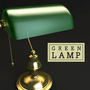 3d banker desk lamp model