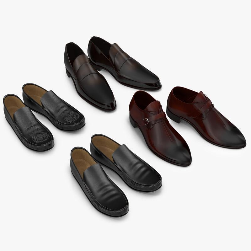 3d man shoes 2 modeled