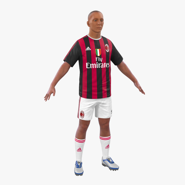 max soccer player milan modeled