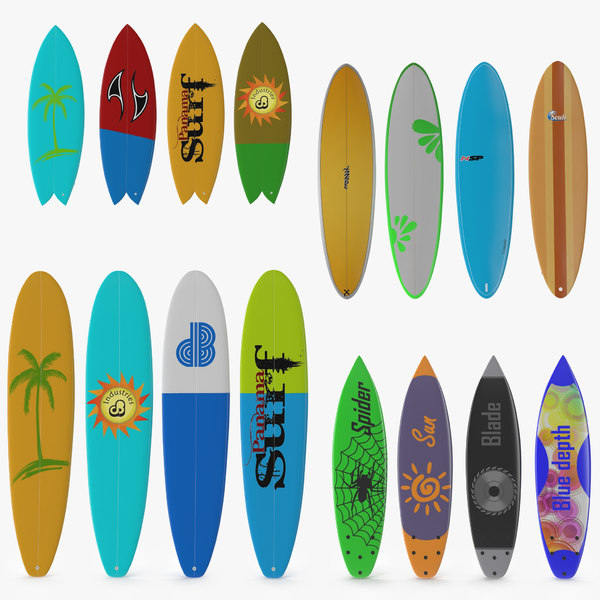 surfboards 2 c4d