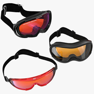 3d model of ski goggles modeled