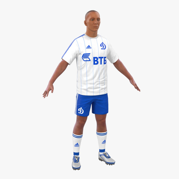 c4d soccer player dynamo modeled