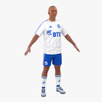 c4d soccer player dynamo modeled