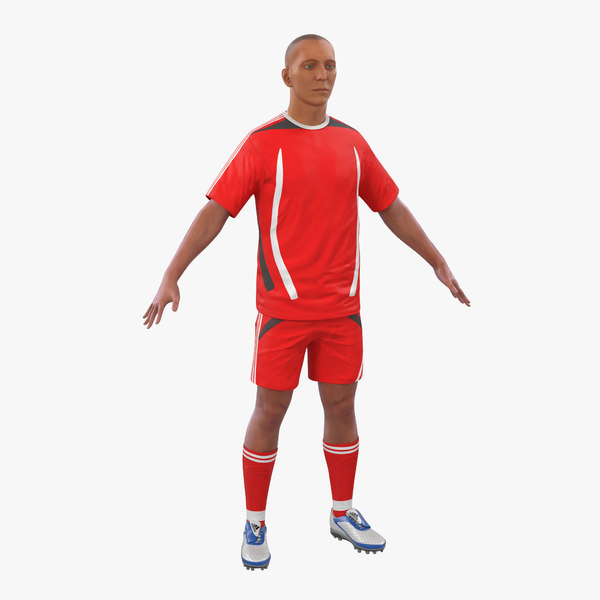 soccer player generic modeled 3ds