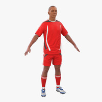Soccer Player Generic 3D Model