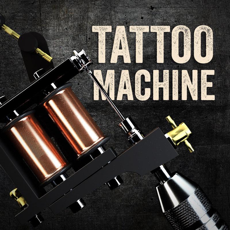 3d model tattoo machine