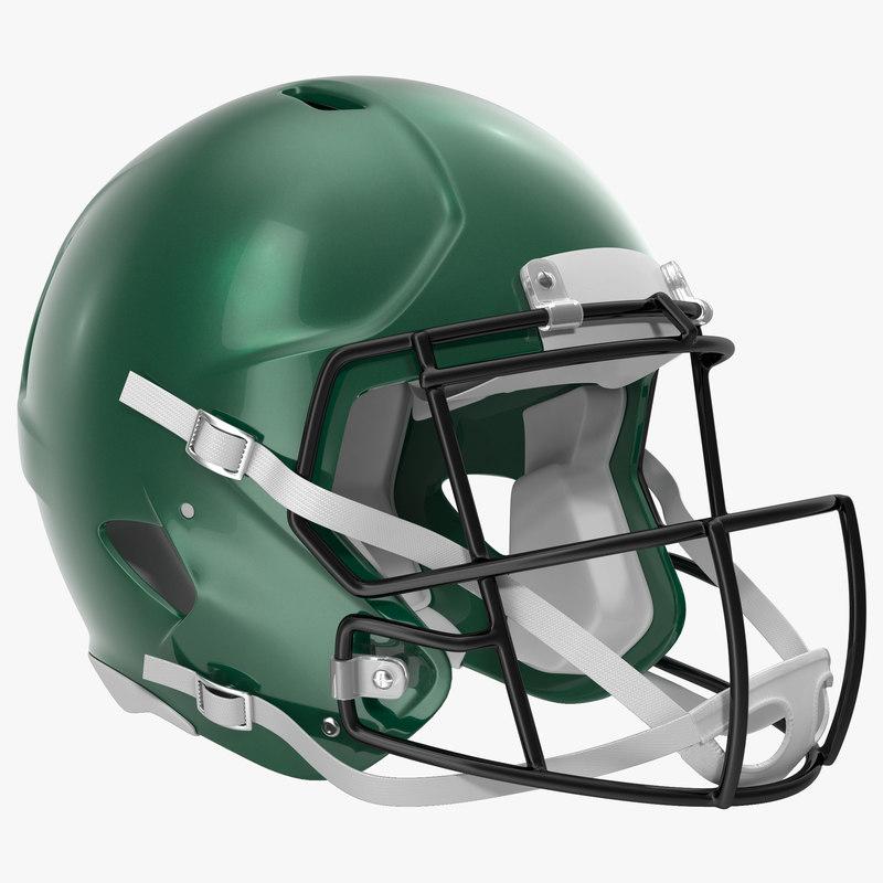 3d football helmet 3 generic model