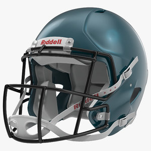 3d model football helmet 3 riddell