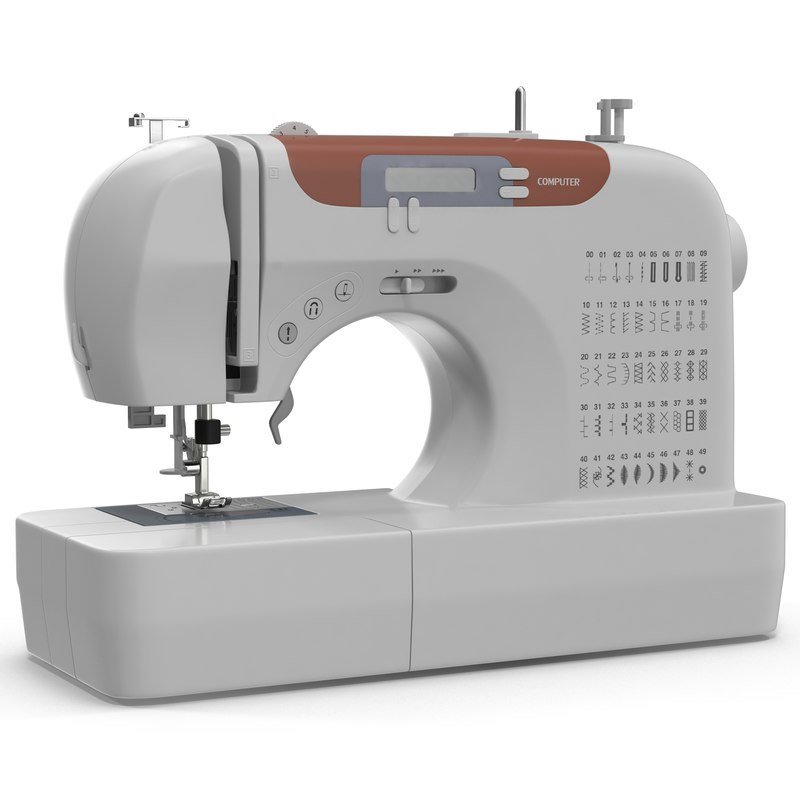 3d sewing machine generic modeled
