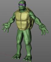 3d turtle ninja man model
