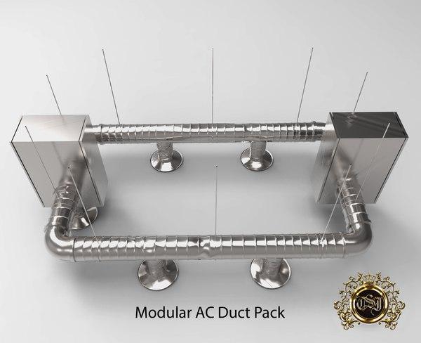modular duct pack obj