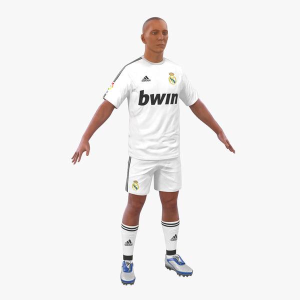 soccer player real madrid 3d model