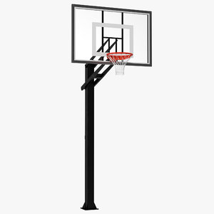 3d basketball hoop 4 modeled model