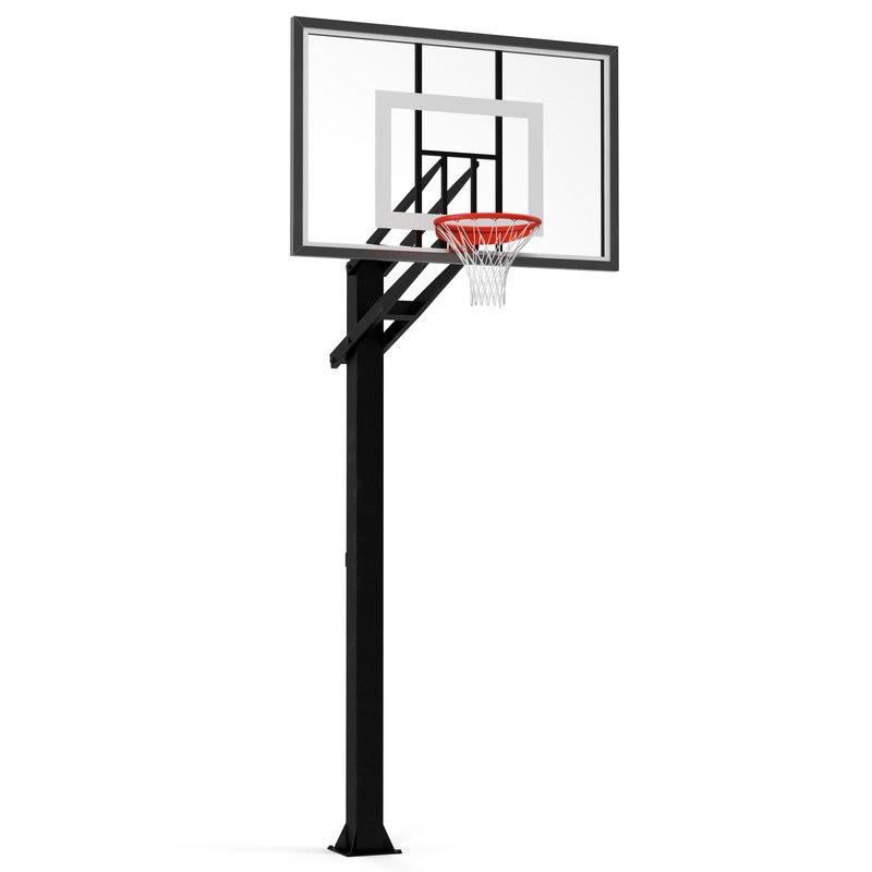3d basketball hoop 4 modeled model