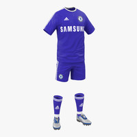 soccer clothes chelsea 3d model