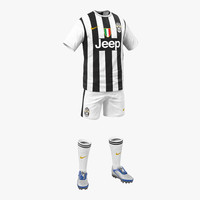 Soccer Clothes Juventus 3D Model
