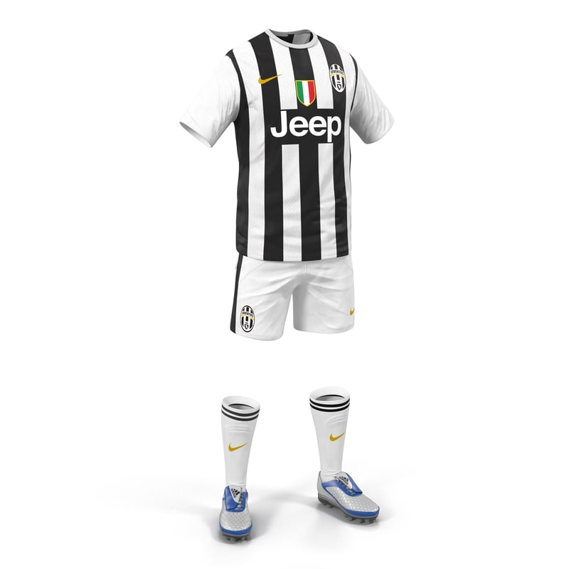 3ds soccer clothes juventus modeled