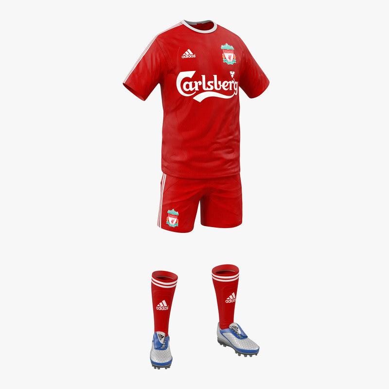 soccer clothes liverpool 3d model