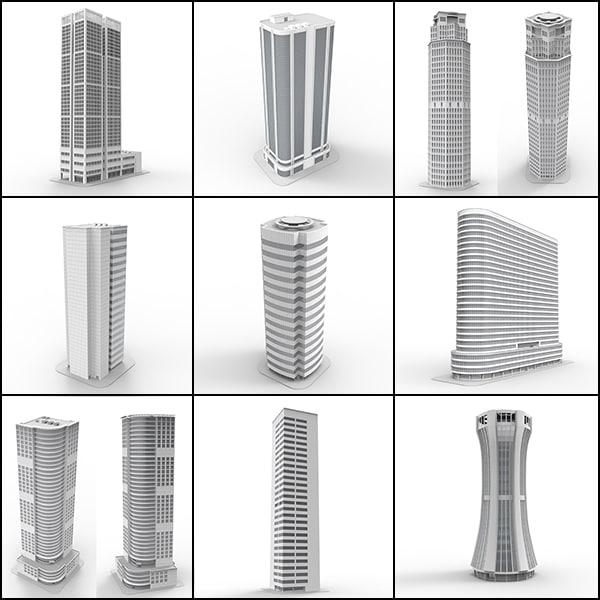 3d model skyscrapers