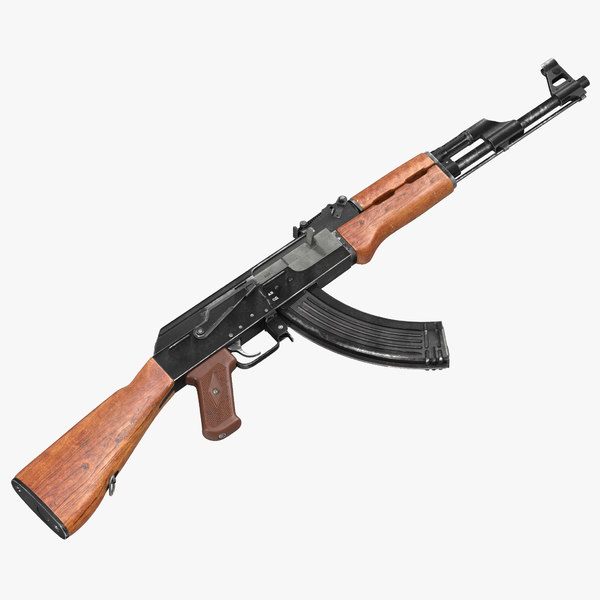 assault rifle ak 47 3d 3ds
