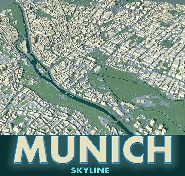 city munich 3d model