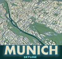 city munich 3d model