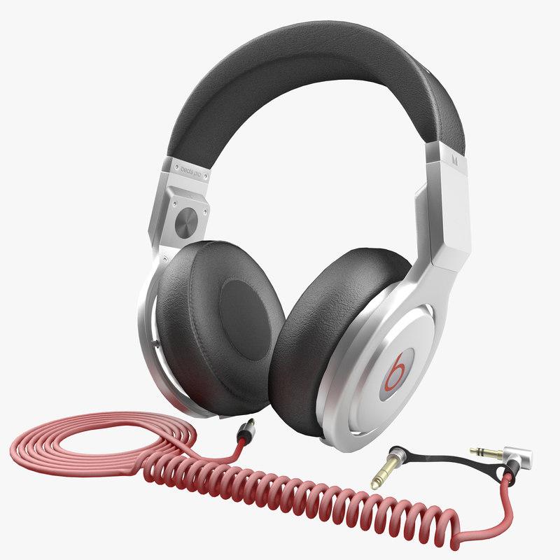 headphones monster beats pro 3d model