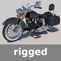 Rigged Harley Davidson Heritage Soft Tail Motorcycle