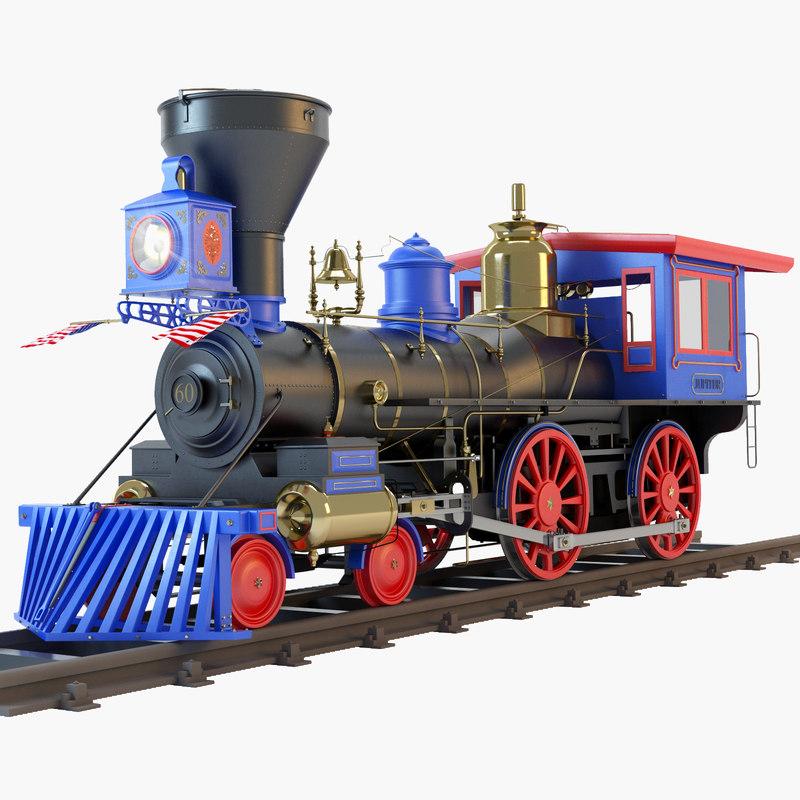 jupiter steam locomotive 3d model