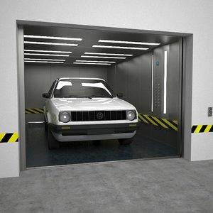 obj automobile elevator