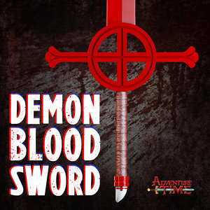 3d finn demon blood sword model