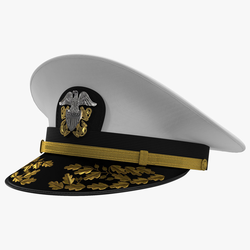 3d model admiral combination hat