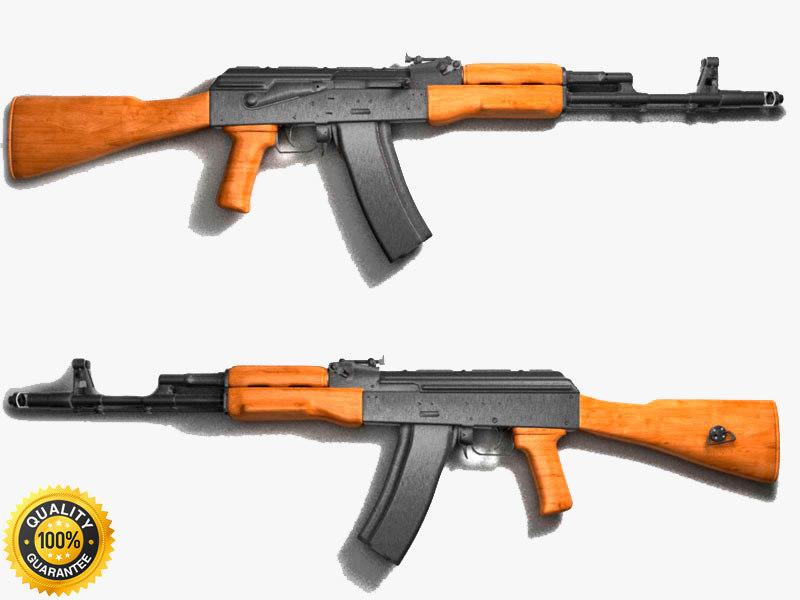 3d ak-47 assault rifle